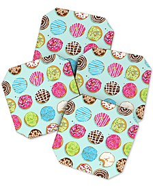 Evgenia Chuvardina Sweet Donuts Coaster Set