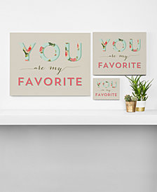 Deny Designs Allyson Johnson Floral You Are My Favorite Canvas Collection