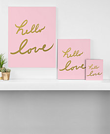 Deny Designs Lisa Argyropoulos Hello Love Pink Canvas Collection