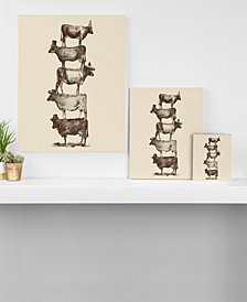 Deny Designs Florent Bodart Cow Cow Nuts Canvas Collection