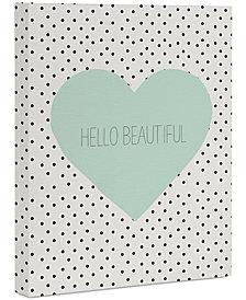 "Deny Designs Allyson Johnson Hello Beautiful Heart 8"" x 10"" Canvas Wall Art"