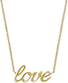 "EFFY Kidz® Children's Scripted ""Love"" 16"" Pendant Necklace in 14k Gold"