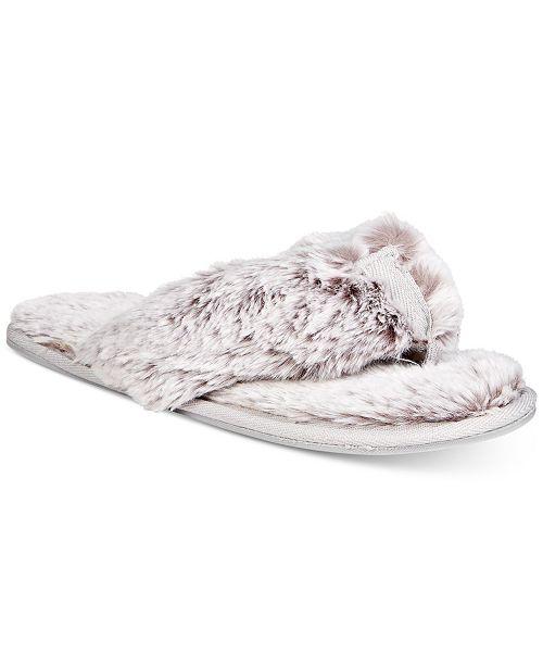 e14a4d953 Lemon Women s Faux-Fur Memory Foam Flip-Flop Slippers   Reviews ...