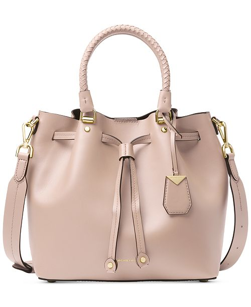 9837595b620d3 Michael Kors Blakely Smooth Leather Bucket Bag   Reviews - Handbags ...