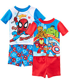 Marvel's® Superhero Adventures 4-Pc. Cotton Pajama Set, Toddler Boys