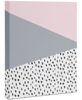 "Viviana Gonzalez Scandinavian Style Gray Art Canvas 8x10"""