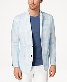 I.N.C. Men's Slim-Fit Abstract Windowpane Blazer, Created for Macy's