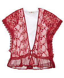 Kandy Kiss 2-Pc. Embroidered Top & Tank Top Set, Big Girls