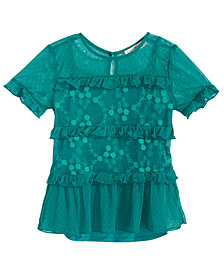 Kandy Kiss 2-Pc. Embroidered Top & Camisole Set, Big Girls