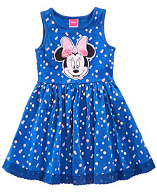 Disney's® Minnie Mouse Dot-Print Dress, Little Girls