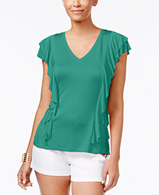 Thalia Sodi Ruffled Top, Created for Macy's