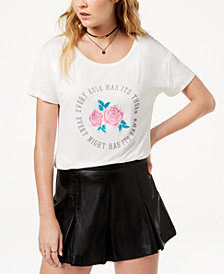 True Vintage Rose-Embroidered Graphic T-Shirt
