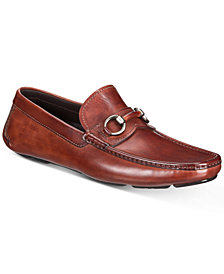 Massimo Emporio Men's Braided Leather Bit Drivers, Created for Macy's