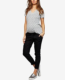 Maternity Chambray Jogger Pants