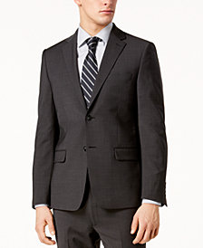 Calvin Klein Men's Skinny-Fit Infinite Stretch Charcoal Suit Jacket