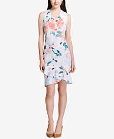 Calvin Klein Ruffle-Hem Dress