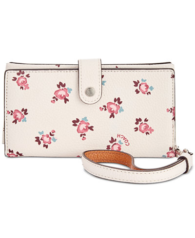 COACH Boxed Phone Wristlet with Floral Bloom