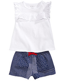 First Impressions Ruffle Top & Shorts Separates, Baby Girls, Created for Macy's