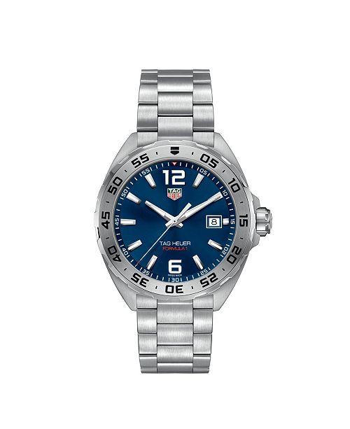 TAG Heuer Men's Swiss Formula 1 Stainless Steel Bracelet Watch 41mm