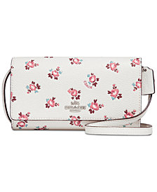 COACH Boxed Phone Mini Crossbody with Floral Bloom