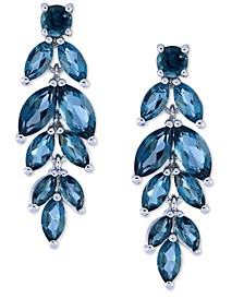 Blue Topaz Vine Drop Earrings (7 ct. t.w.) in Sterling Silver (Also Available In Garnet, Amethyst, & Peridot)