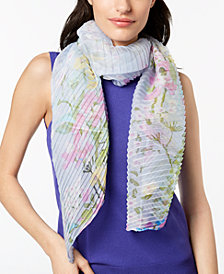 I.N.C. Garden Growth Pleated Scarf, Created for Macy's