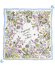 I.N.C. Garden Poem Square Scarf, Created for Macy's