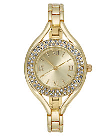 Charter Club Women's Gold-Tone Bracelet Watch 30mm, Created for Macy's