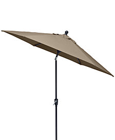 Savannah 9' Auto-Tilt Umbrella, with Sunbrella® Fabric, Created for Macy's
