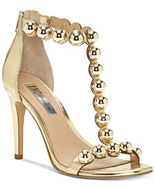 I.N.C. Women's Raechelle T-Strap Dress Sandals, Created for Macy's