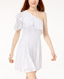 The Edit By Seventeen Juniors' Lace One-Shoulder Dress, Created for Macy's