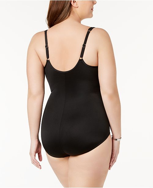 b7560c3e373a7 Miraclesuit Plus Size Madero Underwire Tummy-Control One-Piece Swimsuit ...