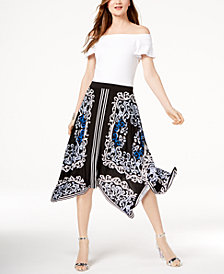 I.N.C. Off-The-Shoulder Top & Midi Skirt, Created for Macy's