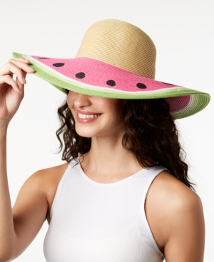 1950s Women's Hat Styles & History August Hats Fruit Stand Floppy Hat $36.00 AT vintagedancer.com