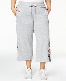 Calvin Klein Performance Plus Size Floral Wide-Leg Culottes