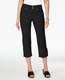 Style & Co Petite Cuffed Cropped Jeans, Created for Macy's