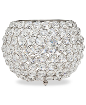 Godinger Lighting by Design Glam 10 NickelPlated Ball Crystal Tealight Holder