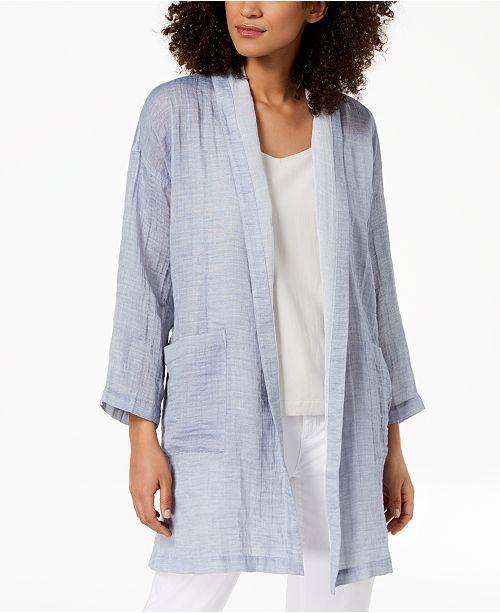 Organic Cotton Textured Kimono Jacket