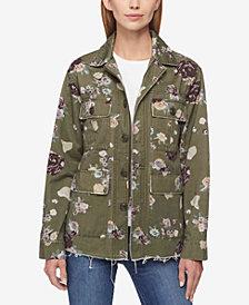 Levi's® Cotton Floral-Print Utility Jacket