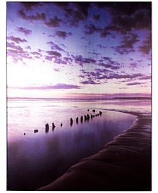 Metallic Serenity Shores Canvas Print