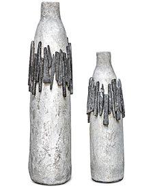 Uttermost Rutva 2-Pc. Aged Ivory-Tone Vase Set