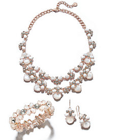Charter Club Gold-Tone Crystal & Imitation Pearl Jewelry Separates, Created for Macy's