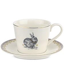 Meadow Lane Teacup & Saucer Set, Lilac