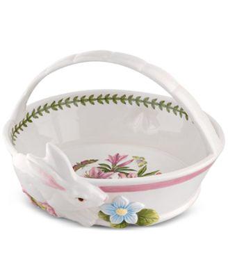 Botanic Garden Terrace Bunny Oval Bread Basket