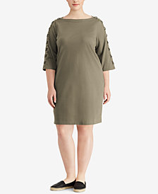 Lauren Ralph Lauren Plus Size Cotton Dress