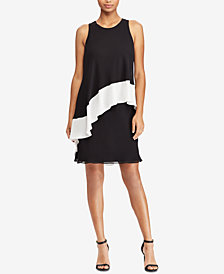 Lauren Ralph Lauren Two-Tone Georgette Dress