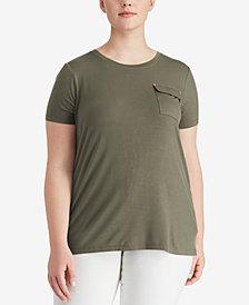 Lauren Ralph Lauren Plus Size Crew-Neck Jersey T-Shirt