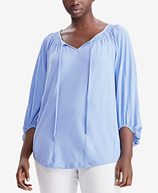 Lauren Ralph Lauren Plus Size Cotton Jersey Top