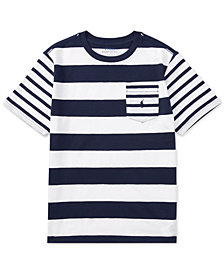 Polo Ralph Lauren Striped Cotton T-Shirt, Big Boys