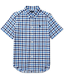 Polo Ralph Lauren Short-Sleeve Oxford Shirt, Big Boys